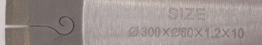 300mm Super Thin Diamond Saw Blades For Cutting Ceramic