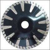 Turbo Concave Saw Blade Continuous Rim