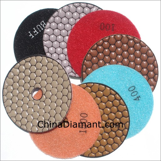 "4"" 100mm Dry Diamond Polishing Pads"