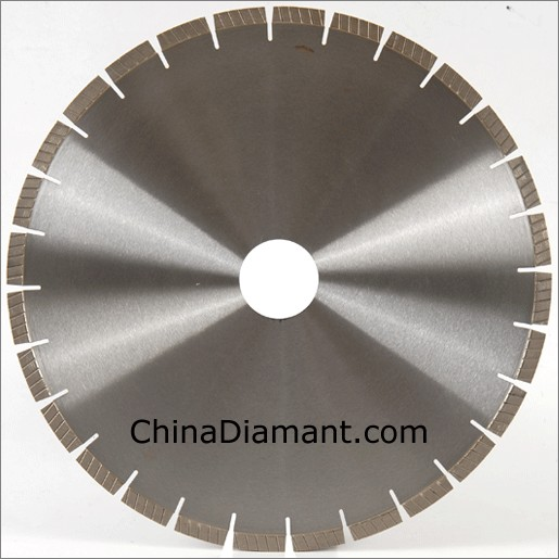 China Granite Cutting Diamond Saw Blades With Spiral Turbo
