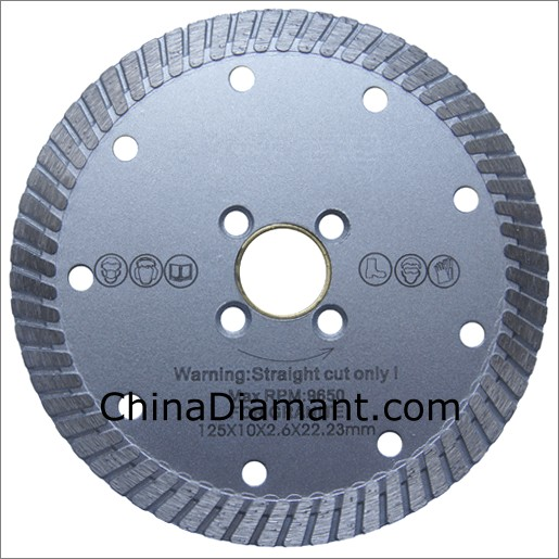"5"" (125mm) Turbo Rim Diamond Dry Cutter"