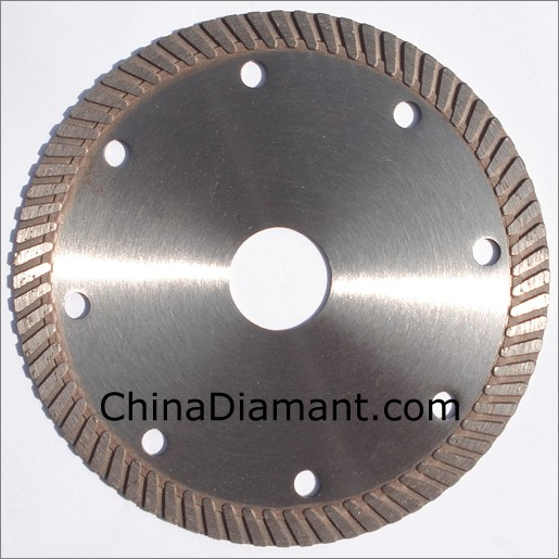 China Diamond Dry Cutters Narrow Turbo Rim Granite Saw Blade